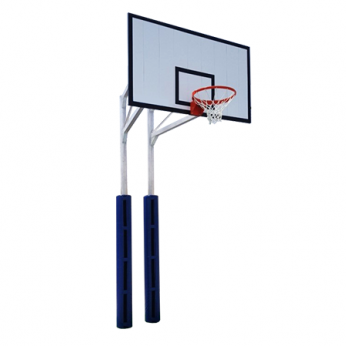 Tiang Basket Outdoor Permanen Double