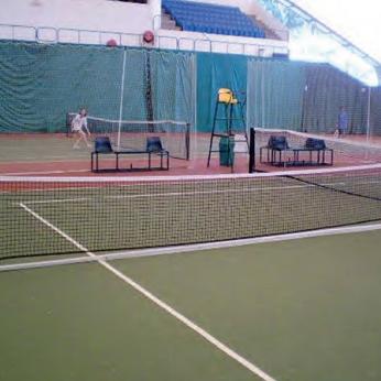 Tennis - Tiang Setengah Lapangan Mobile
