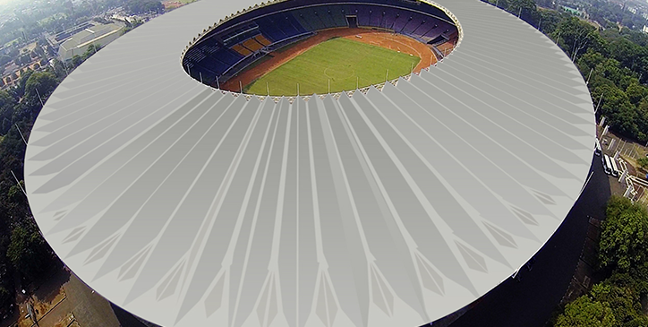 An Excellent Waterproof for Metal Roof at Gelora Bung Karno