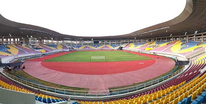 Desain Motif Batik Kawung pada Kursi Stadion Manahan Solo